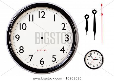 Blank Clock Face And Hands