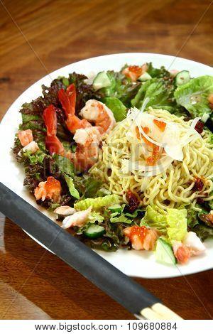 Bowl of japanese noodle salad