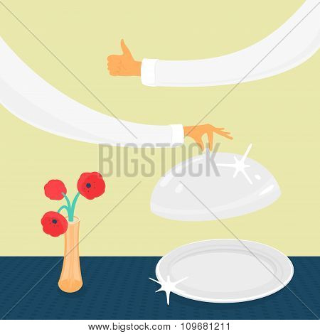 Tableware and hands