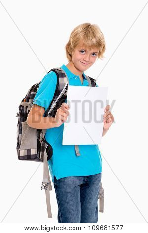 Boy With Good Report Card