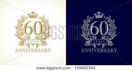 60 anniversary luxury logo.