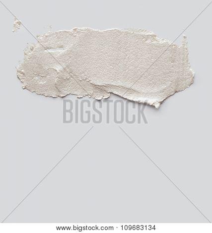 brush stroke on gray empty wall