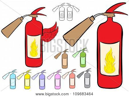 Clipart fire extinguishers