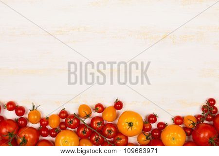 Different kinds of fresh tomatoes