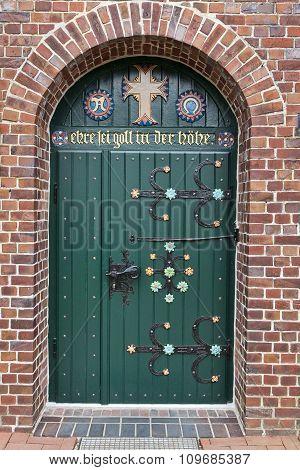Old Decorated Church Door