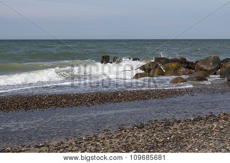 Waves At A Breakwater