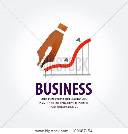 business vector logo design template. earnings, profit or banking icon