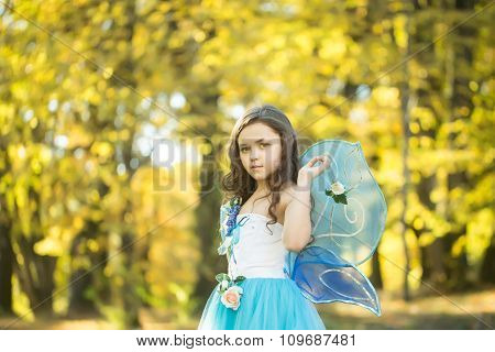 Small Girl Shows Fairy