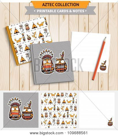 Aztec printable set.