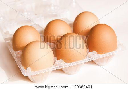 Retro Looking Eggs Picture