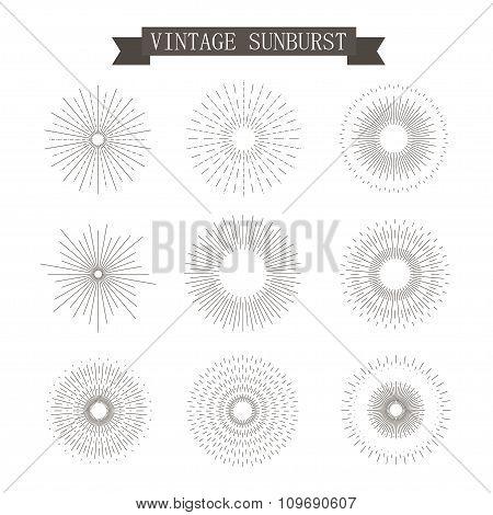 Sunburst Vintage Icons