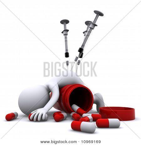 Conceito de Overdose de drogas