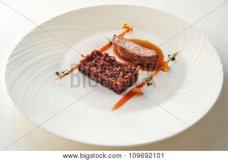 Red Rice With Duck Breast