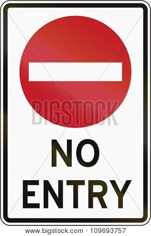 Road Sign In The Philippines - No Entry For All Vehicles
