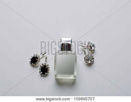 Close-up Bridal Jewellery And Perfumery