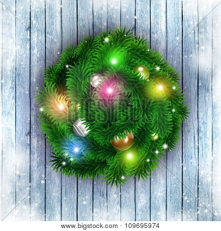 Christmas Greeting Ring Red Background