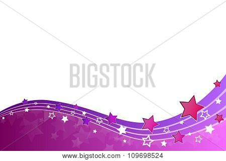 Abstract background pink violet stars and lines vector