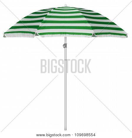 Beach Striped Umbrella - Green