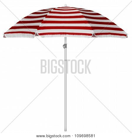 Beach Striped Umbrella - Red