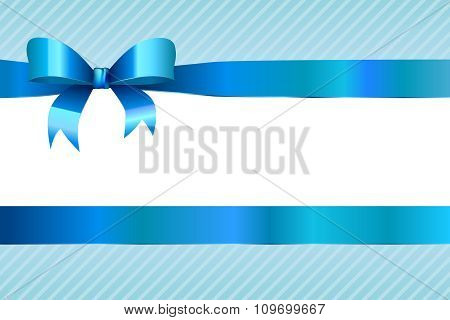 Background abstract blue strips pattern with bow vector