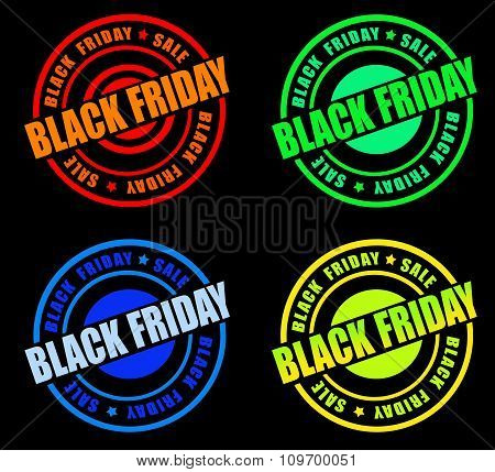 Black Friday Stamp