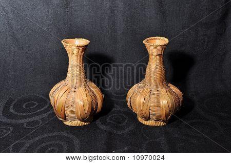 Vase Rattan Rope Texture Double