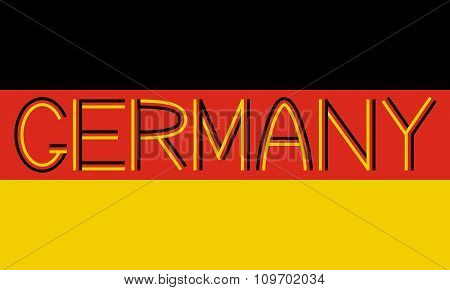German Flag And Word Germany