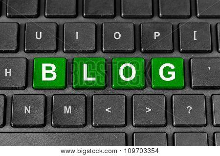 Blog Word On Keyboard
