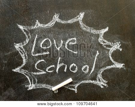 The Word Love School In Bubble Sign