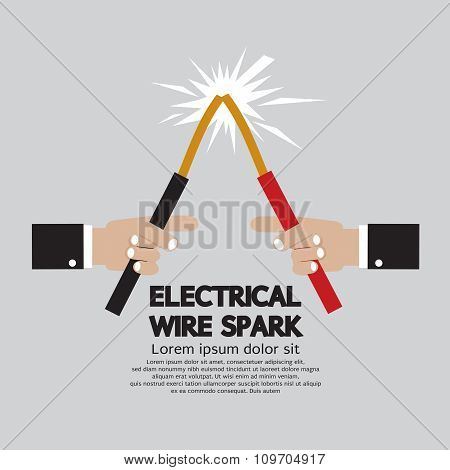 Electrical Wire Spark.