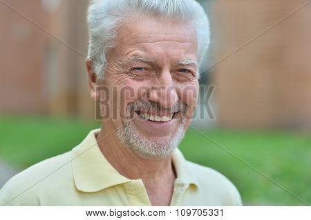 senior man  in summer park