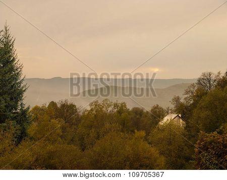 Countryside Landscape Romania