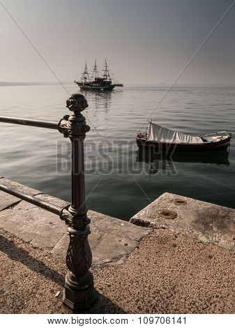Ship And Boat In Thessaloniki