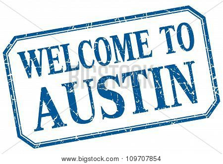 Austin - Welcome  To Blue Vintage Isolated Label