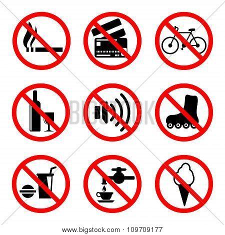 Prohibiting Signs Set