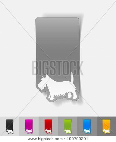 realistic design element. scottish terrier