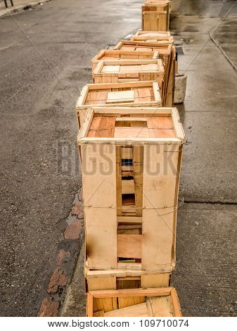Empty Wood Crates