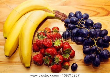 Still life of natural fresh fruit