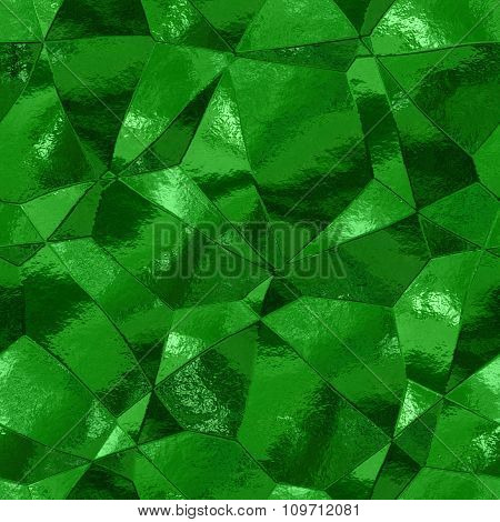 Decorative stones of different shapes - green pattern