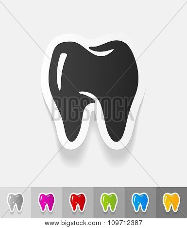 realistic design element. tooth