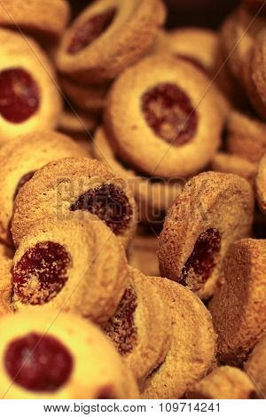 Shortbread Cookies Filled With Jam