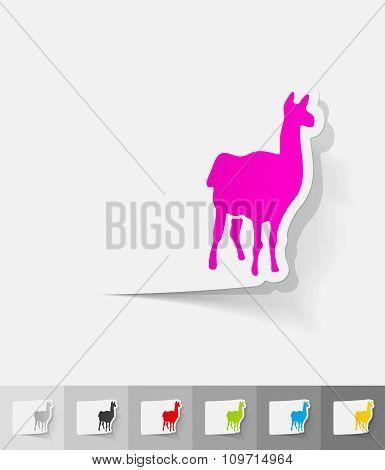 realistic design element. lama