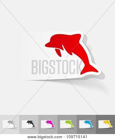 realistic design element. dolphin