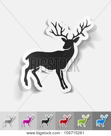 realistic design element. deer