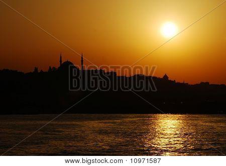 Istanbul Twilight Cityscape