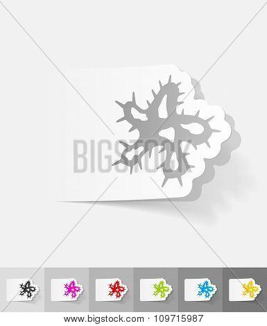 realistic design element. microbe