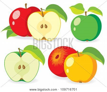 Various Fresh Apples