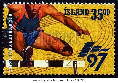 Postage Stamp Iceland 1997 Hurdles, European Games