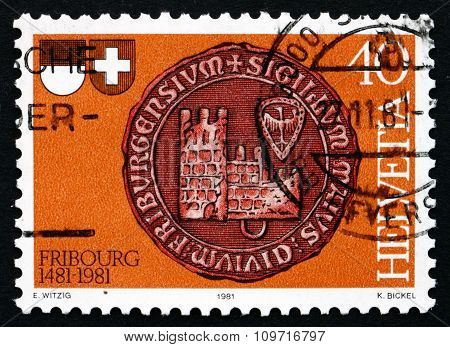 Postage Stamp Switzerland 1981 Seal Of Fribourg