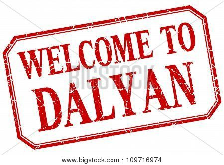 Dalyan - Welcome Red Vintage Isolated Label